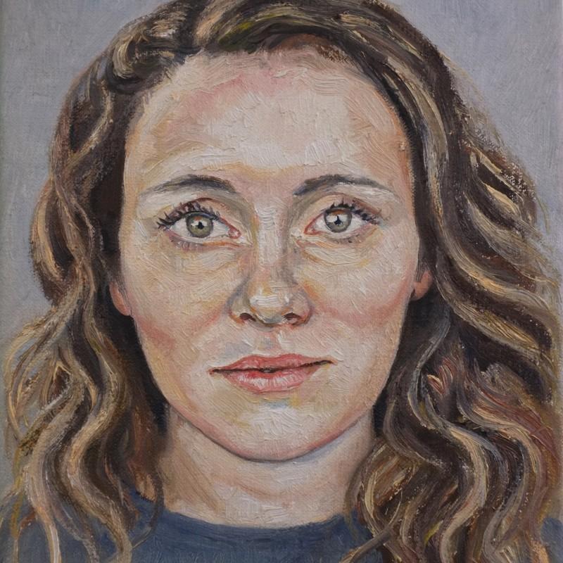 portret van Dominique, olieverf op doek Jacques Gregoire
