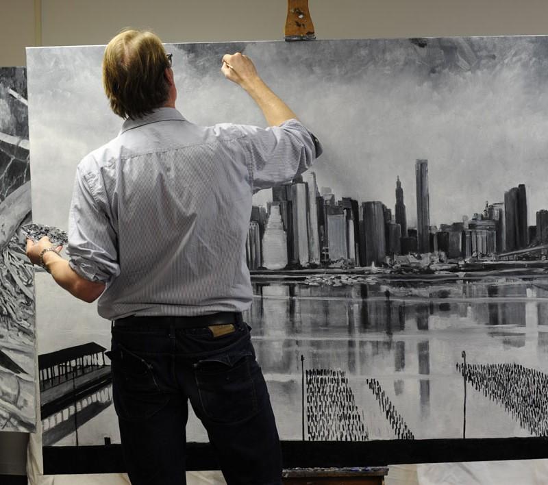 New York olieverf op doek 140 180 cm    2013