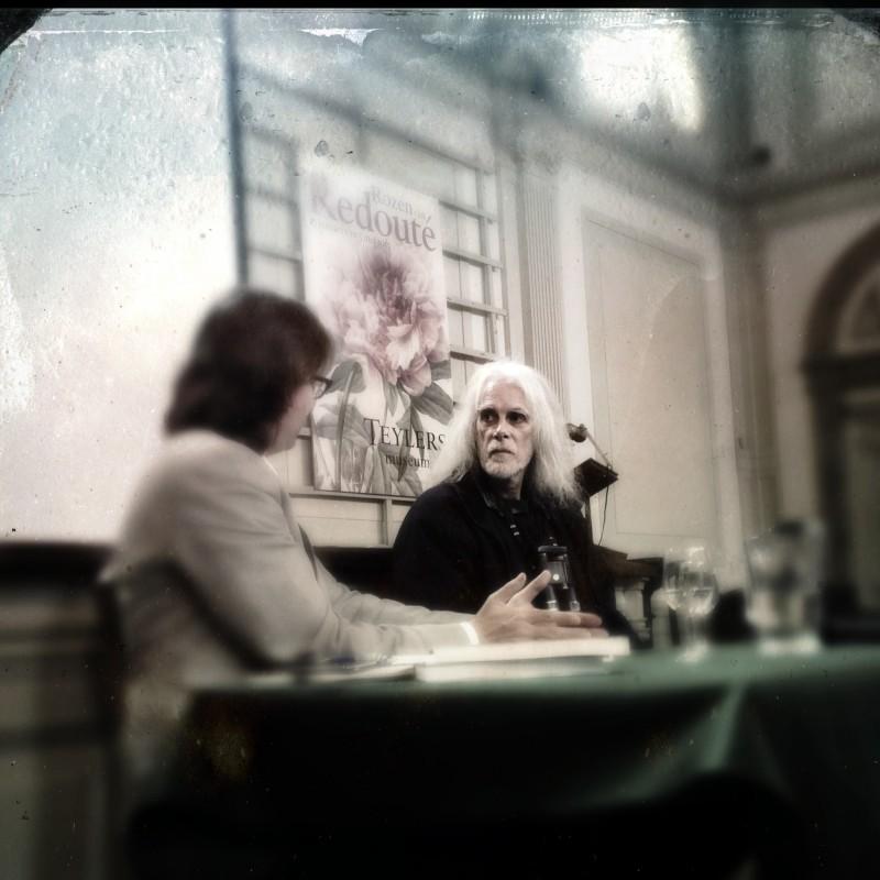 Rob Bijlsma in gesprek met Alexander Reeuwijk in het Teylers museum