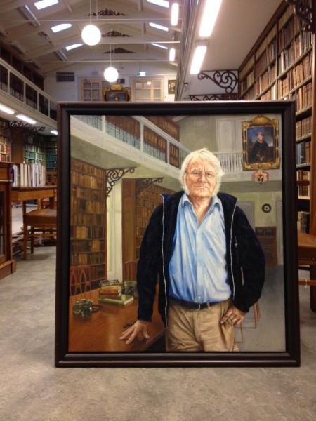 Schilderij door Jacques Grégoire van Redmond O'Hanlon in de Artis Bibliotheek