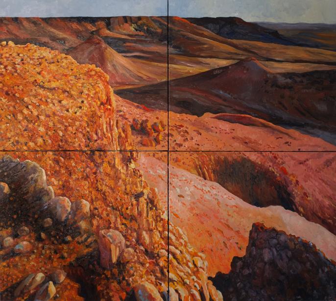 olieverf op doek 170 x 190 cm.