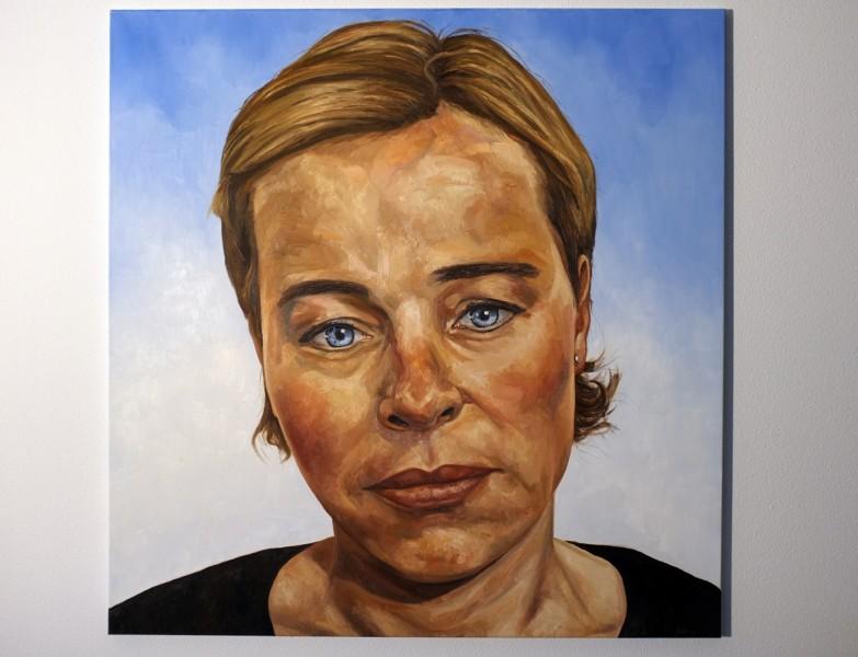 portret van Annelize, olieverf op doek