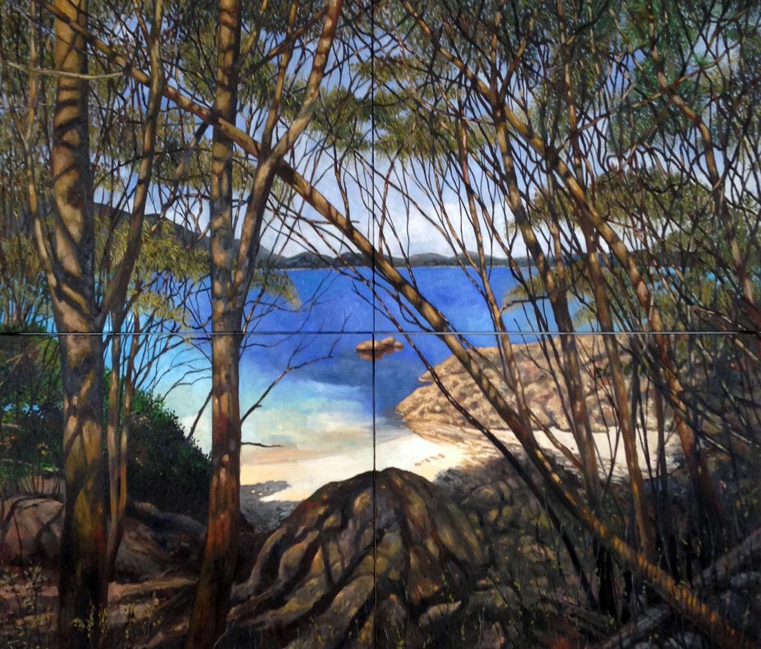 olieverf op doek 190 x 220 cm