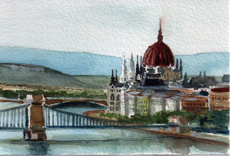 2016 watercolor Budapest kl
