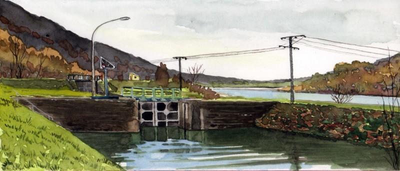 sluis in de Maas aqua 10,5x24,5